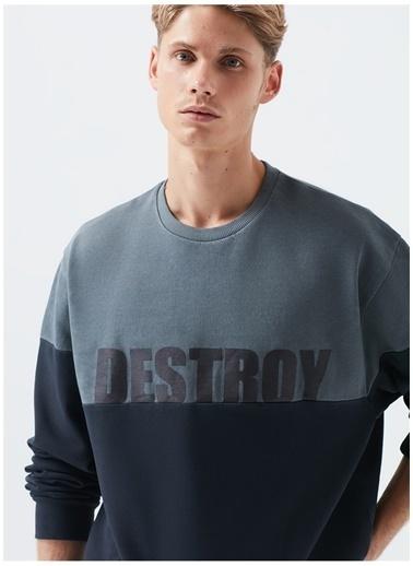 Mavi Mavi Siyah Baskılı Sweatshirt Siyah